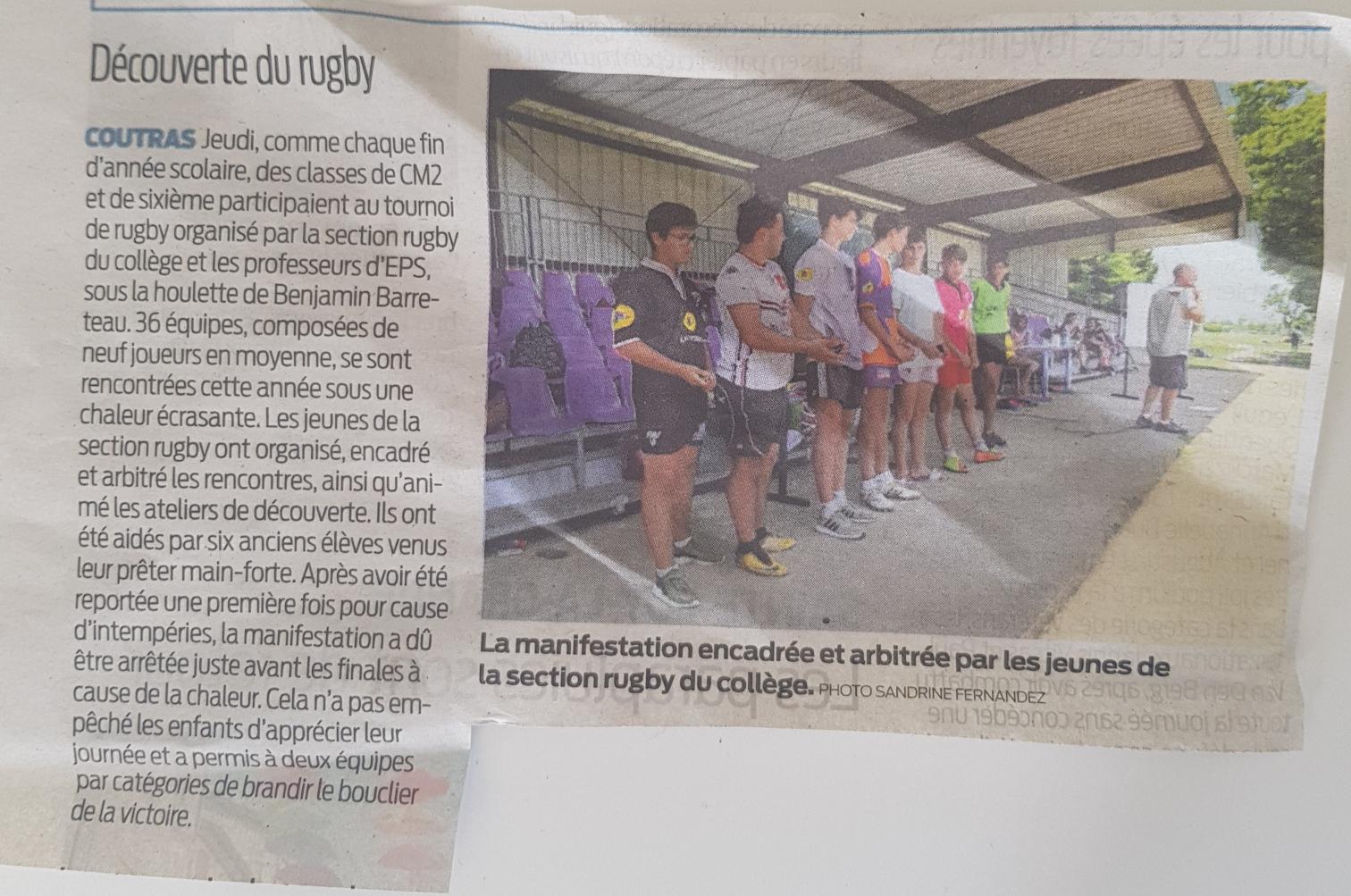 Le Rugby à l'Honneur à Coutras!