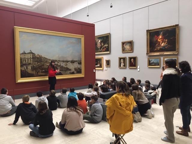 Sortie culturelle au musée des Beaux Arts de Bordeaux, vendredi matin 30 novembre 2018.