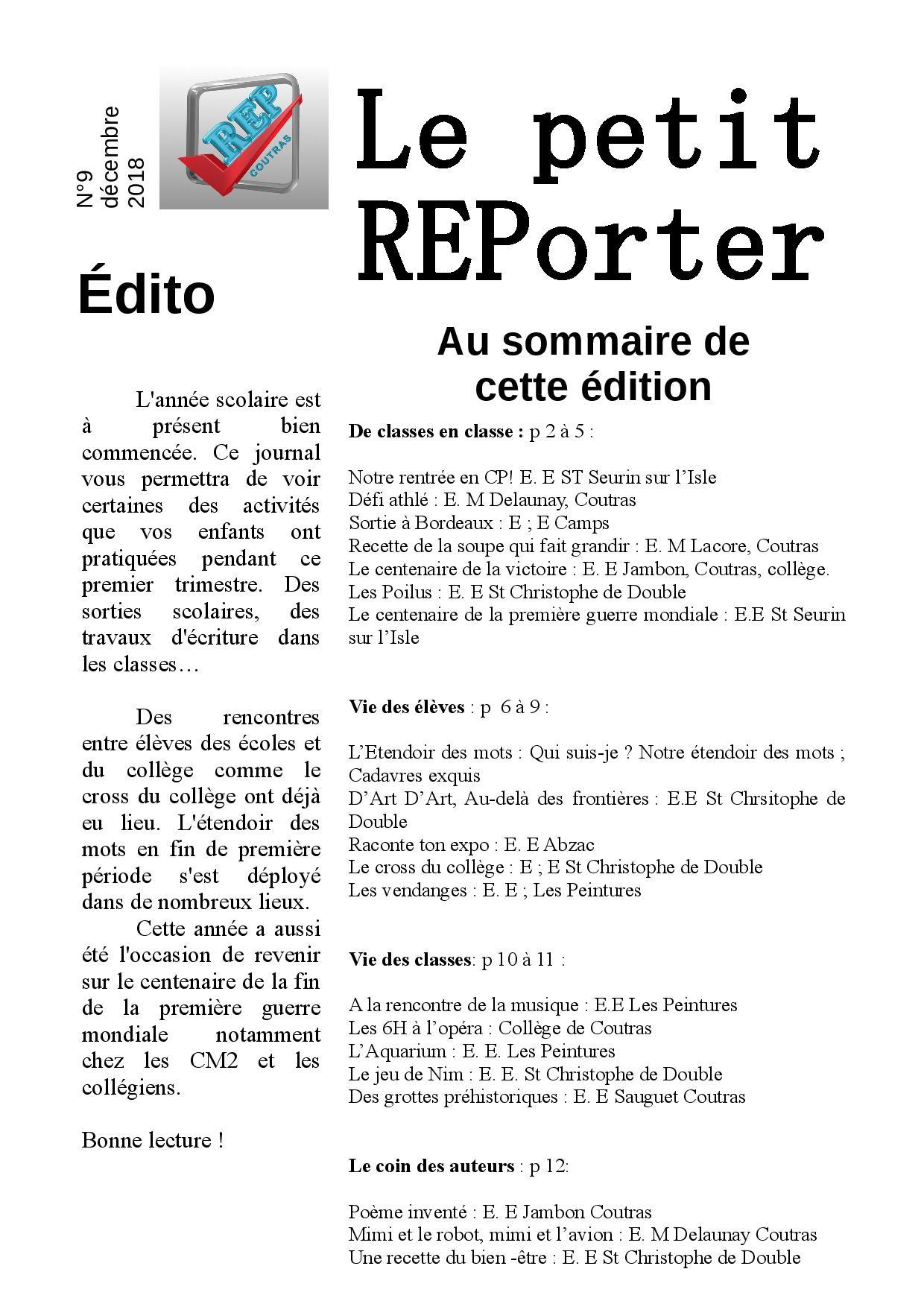 Journal du REP – N°11