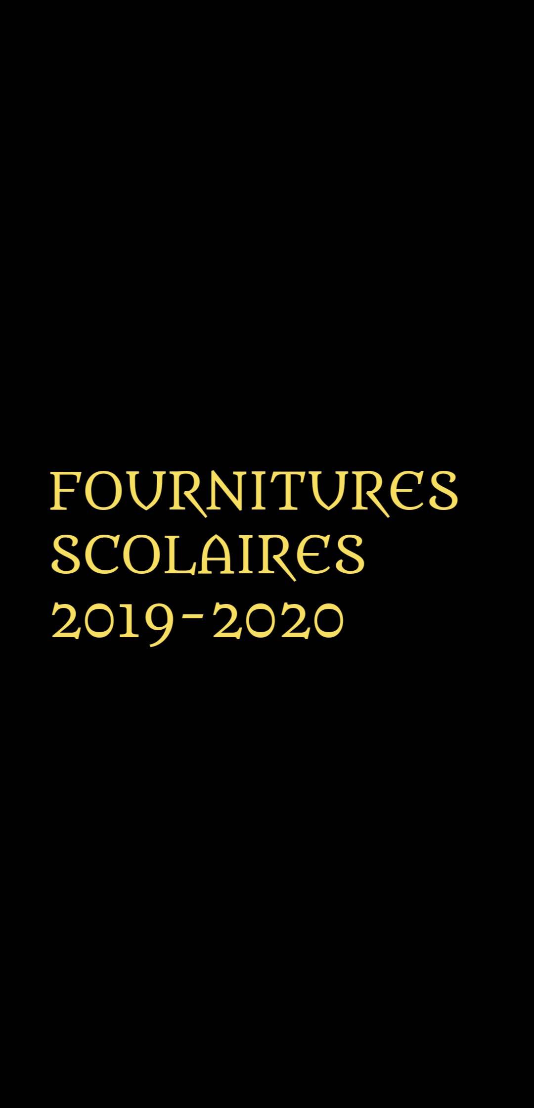 FOURNITURES RENTREE 2019