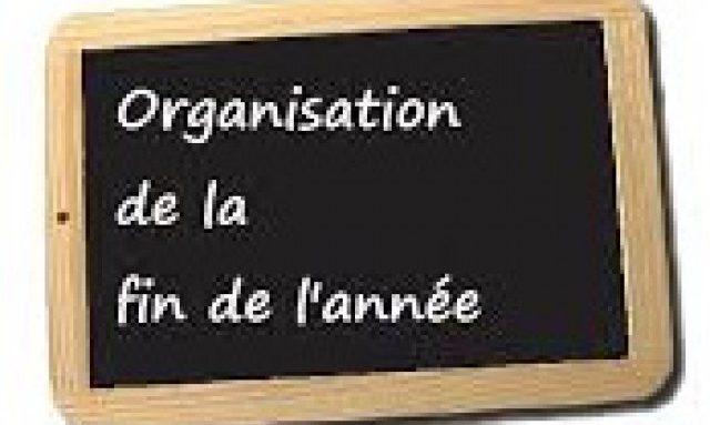 CALENDRIER DE FIN D'ANNEE